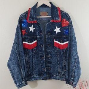 Levi's Jackets & Coats - Vintage Levis Upcycled Acid Denim Texas Jacket